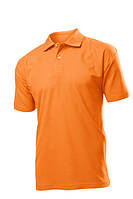 Поло-футболка оранжевая