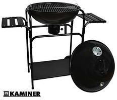 """Гриль Kaminer XL 18"""" круглий з кришкою на колесах! Польща!"""