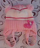 Детская шапка (зима), р. 36-38 (розовая)