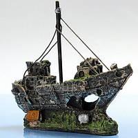Декор для аквариума корабль