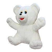 Мягкая игрушка Zolushka Медведь Умка мутон средний 53см белый (107-1)