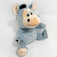 Мягкая игрушка Zolushka Ослик сидячий средний 39см (283)