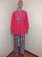 Пижама женская, флис,  размер 2XL (52-54)