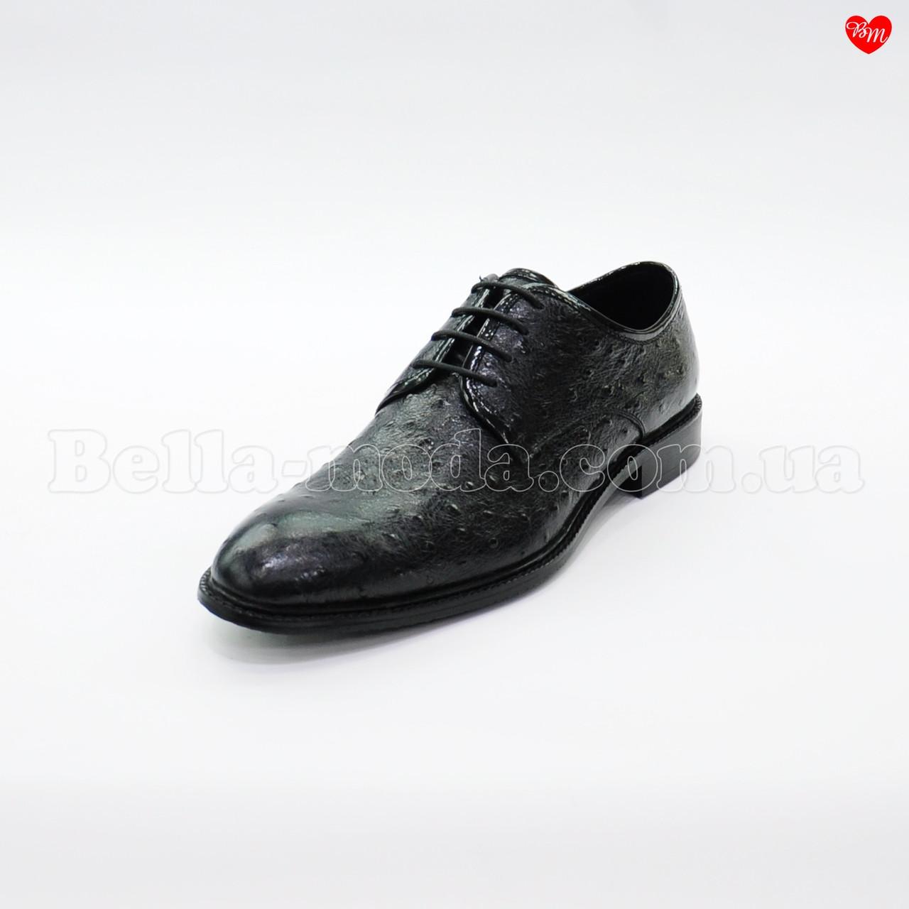 Мужские туфли кожа страуса Hermes - интернет-магазин