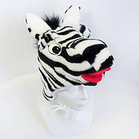 Детская маскарадная шапочка Zolushka зебра (407)