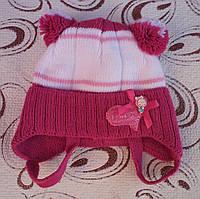 Детская шапка (зима), р. 36-38 (малиновая)