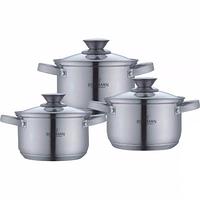 Набор кухонной посуды из нержавеющей стали 6 предметов Bohmann BH-0516