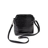Крокодиловая сумочка через плечо М121-47/10 небольшая модная с ремешком, фото 1