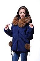 Куртка женская зимняя HAILUOZI Н17-07т.синий
