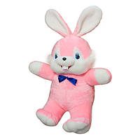 Мягкая игрушка Заяц Сеня большой розовый