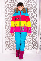 Подростковый зимний костюм «Малибу-2» для девочки 10-14 лет (куртка + брюки; р. 38-42 / 140-152 см) ТМ MANIFIK
