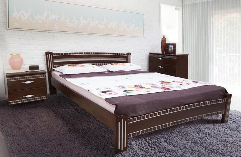 Кровать Пальмира с патиной Серебро (1600*2000)