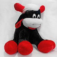 Мягкая игрушка Бык черный средний