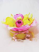 Подарочный букет из конфет ручной работы Подарок к чаю