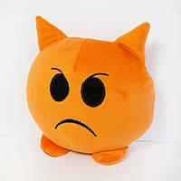 Мягкая игрушка смайлик emoji злюка 18см (617)