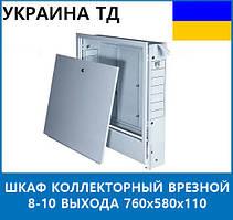 Шкаф коллекторный врезной 8-10 выхода 760х580х110