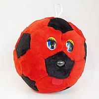 Мягкая игрушка Мячик с глазками красно-черный