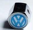 Колпачки на ниппеля ,золотники c лого Volkswagen blue Фольцваген голуб