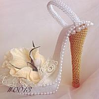 Подарочный букет из конфет ручной работы Туфелька Золушки