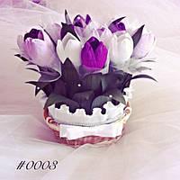 Подарочный букет из конфет ручной работы Тюльпаны