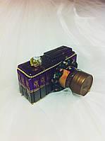 Подарочный букет из конфет ручной работы Фотоаппарат