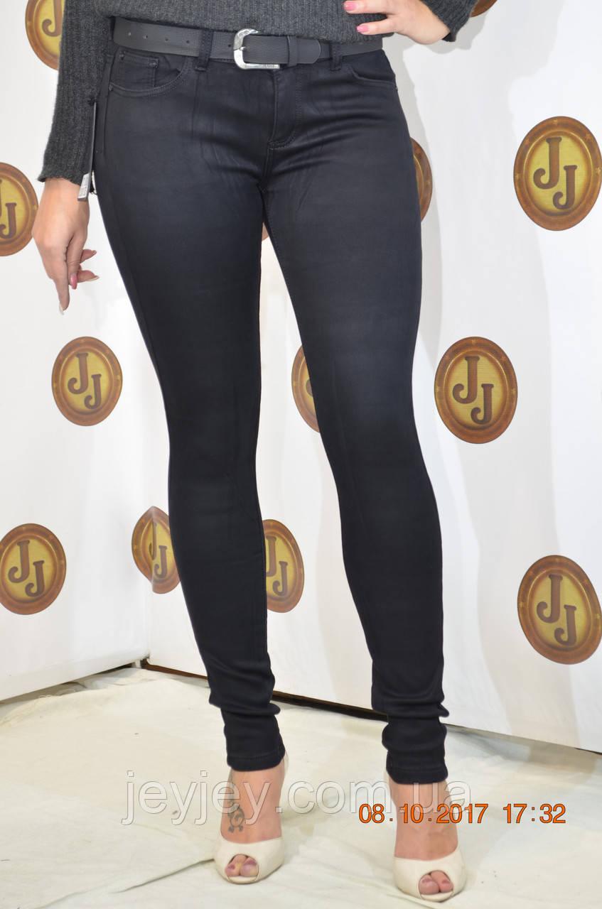 0c95ac56a39 Женские утепленные черные джинсы на флисе со средней посадкой PTA ...