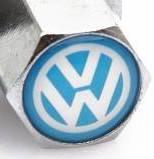 Колпачки на ниппеля ,золотники c лого Volkswagen white Фольцваген белы