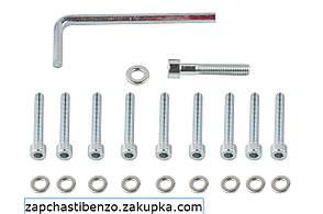 Болты крышки вариатора   4T GY6 150   13 колесо шестигранный шлиц, 10шт +ключ