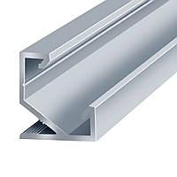 Профиль для LED ленты (2м) угловой (16,5х17мм) алюминий анодированный