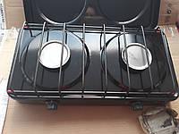 Газовая плитка ЭЛНА 2 кон с крышкой