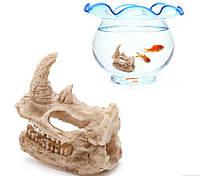 Декор для аквариума череп