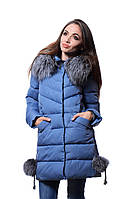 Куртка женская зима   PEERCAT P17-752 серо-голубой