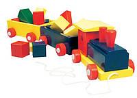 Деревянная игрушка Поезд цветной, 82141, Bino