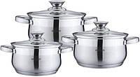 Набор кухонной посуды из нержавеющей стали 6 предметов Bohmann BH-0526