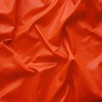 Плащевая ткань (плащевка) лаке  - цвет ярко-оранжевый