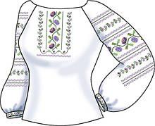 СВЖБ-66. Заготовка Жіноча сорочка лляна біла