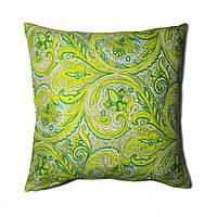 Подушка декоративная 40х40см. Огурец зеленый.