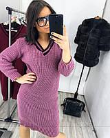 Женское стильное и очень теплое платье, 4 цвета