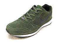 Кроссовки мужские  Nike  замшевые зеленые (р.41,42,43,44,45,46)