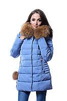 Куртка женская зима PEERCAT P 17-053 серо-голубой