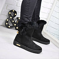 Угги женские SPORT черные 3770, зимняя обувь