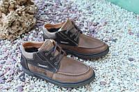 Мужские ботинки Falcon натур кожа коричневые