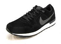 Кроссовки мужские  Nike   замшевые черные (р.41,42,43,44,46)
