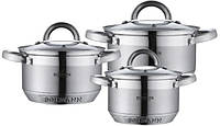 Набор кухонной посуды из нержавеющей стали 6 предметов Bohmann BH-0714