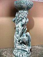 Пара с чашей (камень)  63 см. материал полистоун.