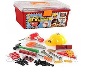 Игровой набор инструментов  в чемодане с каской