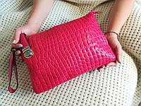 Малиновая сумка 3в1, через плече,клатч,на руку , фото 1