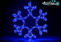Светодиодная новогодняя фигура дюралайт снежинка AuroraSvet 42 см