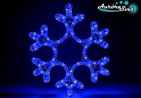 Новорічна світлодіодна фігура дюралайт сніжинка AuroraSvet 42 см
