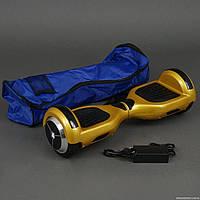 Гироскутер желтый А Classic колёса диаметром 6,5 дюймов, Bluetooth, СВЕТ, в сумке